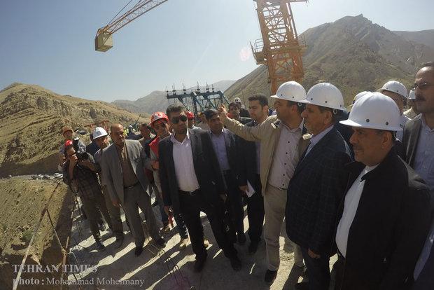Jahangiri visits Tehran-Shomal freeway