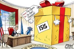 برترین کاریکاتورها؛ هدیه اوباما به رئیس جمهور آینده آمریکا