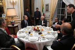 ضیافت افطار محمد جواد ظریف وزیر امور خارجه با مقامات فرانسوی
