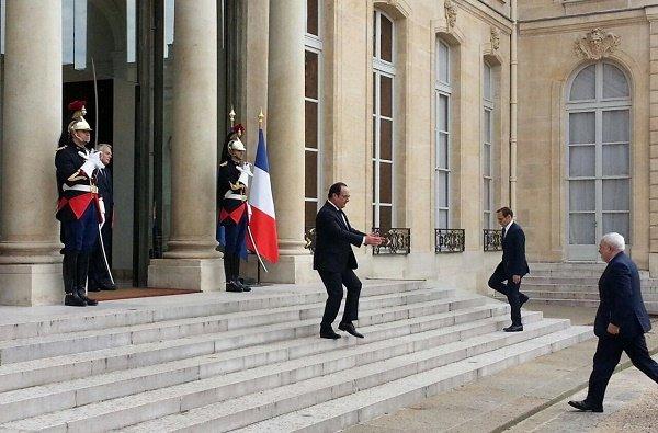 Zarif, Hollande held talks in Paris