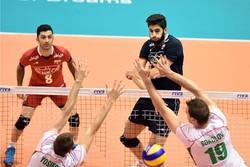 دیدار تیم های ملی والیبال ایران و بلغارستان