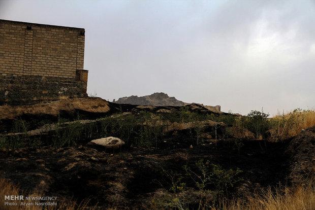 اندلاع الحريق في مراعي سنندج