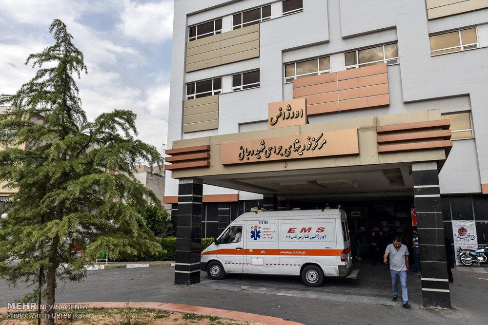 مصدومان سانحه تصادف اتوبوس سربازان در شیراز