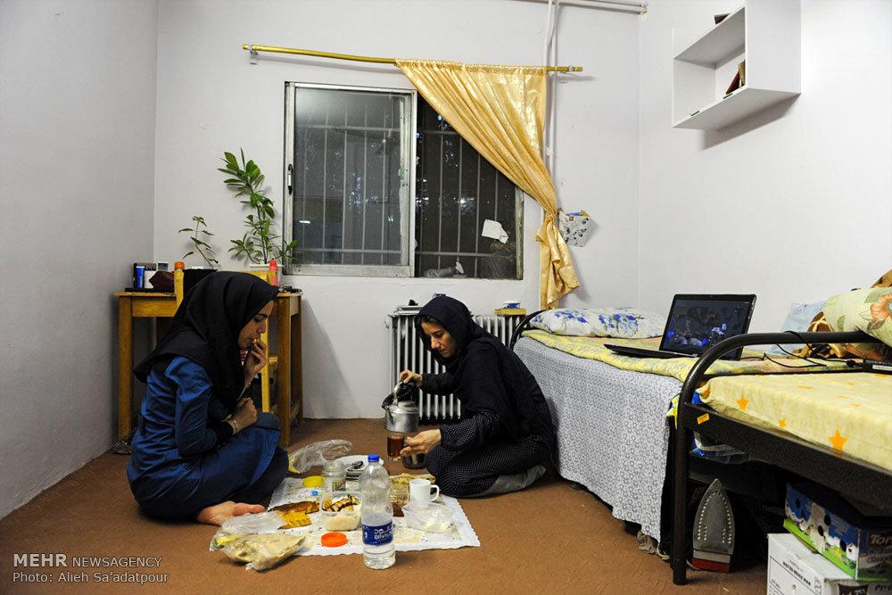 افطار دانشجویی در خوابگاه دانشجویان دختران در دانشگاه مشهد