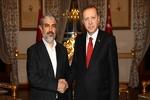 دیدار اردوغان و خالد مشعل در استانبول