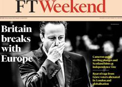 صفحه اول روزنامههای انگلیسی ۵ تیر ۹۵