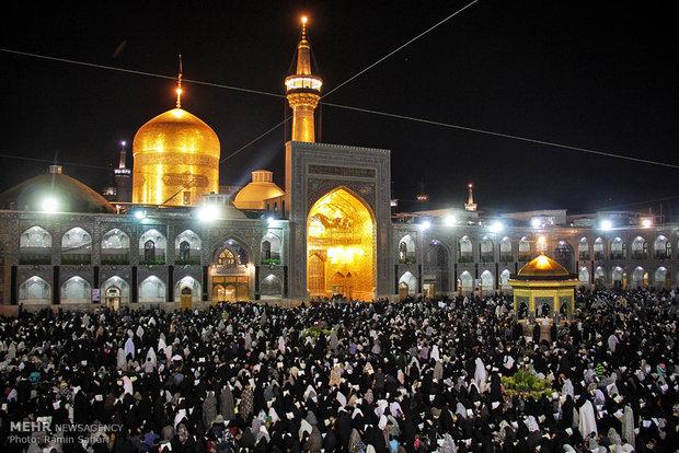 مراسم احیاء شب نوزدهم ماه مبارک رمضان در حرم امام رضا (ع)