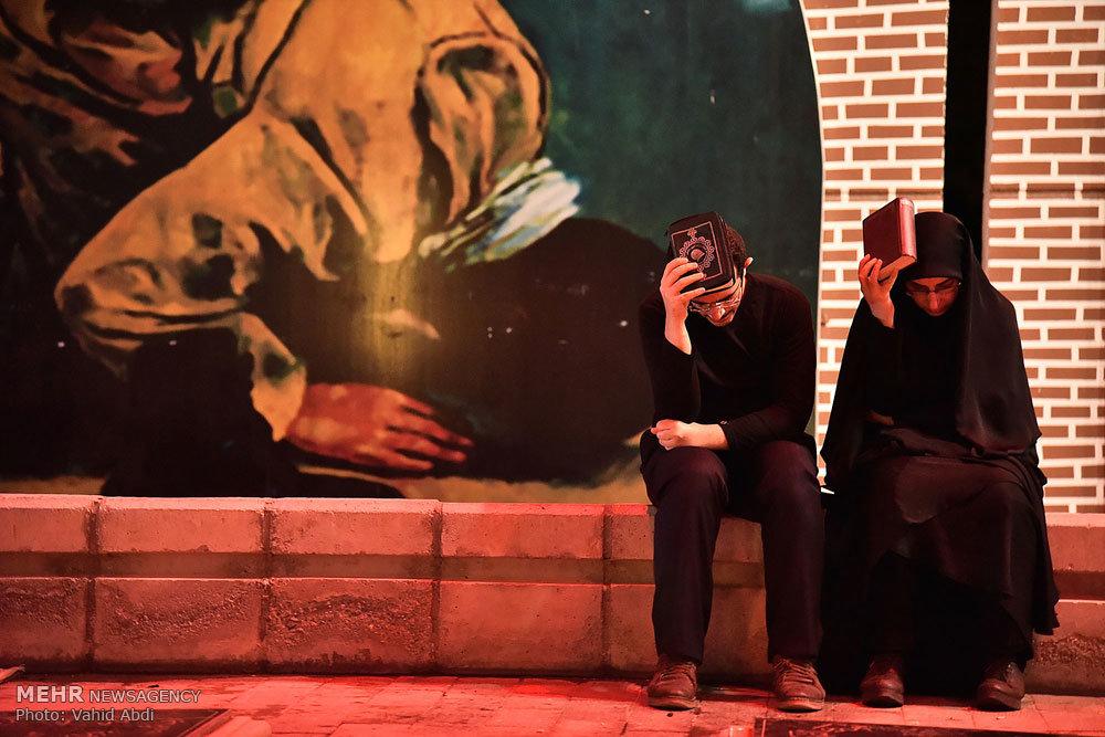 مراسم احیا شب نوزدهم ماه مبارک رمضان در مزار شهدای تبریز