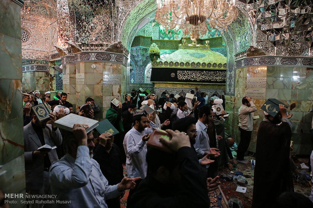 مراسم احیاء شب نوزدهم ماه مبارک رمضان در حرم حضرت معصومه(س)