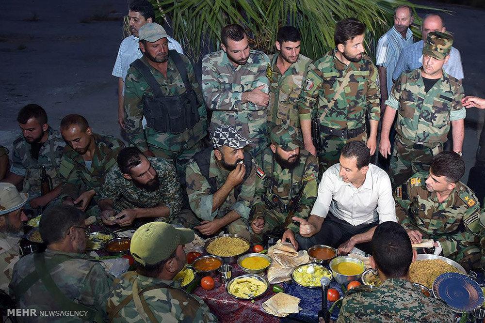حضور بشار اسد در خط مقدم نبرد با تروریست ها