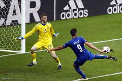 مشاهد من مباراة ايطاليا واسبانيا في يورو 2016