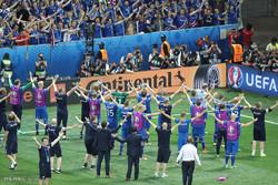 دیدار تیم های فوتبال انگلیس و ایسلند