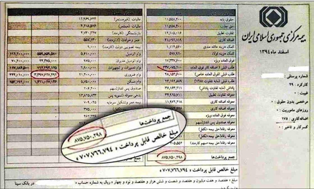 Afbeeldingsresultaat voor حقوق های نجومی