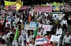 انطلاق مسيرات يوم القدس العالمي في جميع انحاء ايران