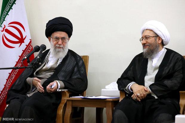 استقبال قائد الثورة لرئيس ومسؤولي السلطة القضائية