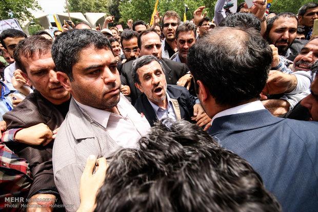مشاركة الرئيس السابق محمود احمدي نجاد في مسيرة يوم القدس العالمي