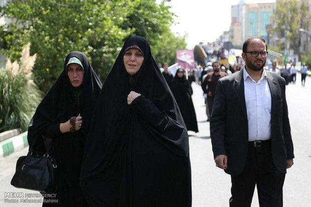 مشاركة مساعد رئيس الجمهورية لشؤون المراة والاسرة في مسيرة يوم القدس العالمي