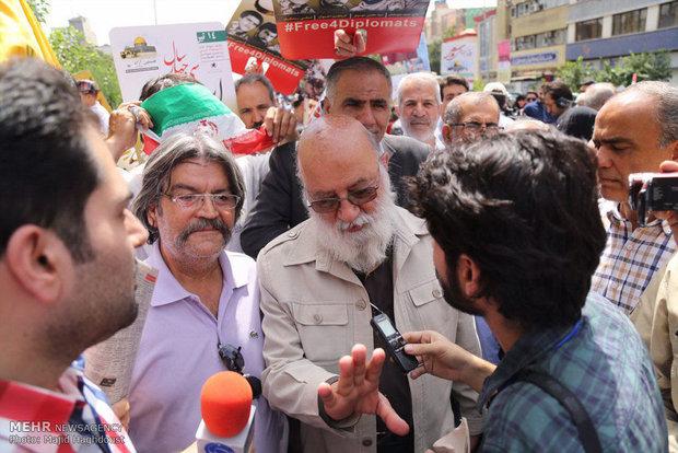 مشاركة رئيس المجلس البلدي بطهران مهدي جمران في مسيرة يوم القدس العالمي