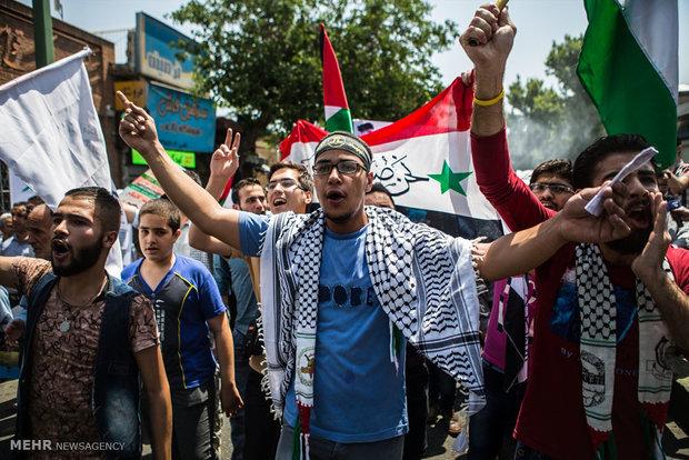 فریادهای مرگ بر اسرائیل در استان قزوین طنین انداز شد