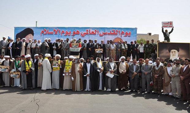 مسيرة حاشدة في البصرة بمناسبة يوم القدس العالمي
