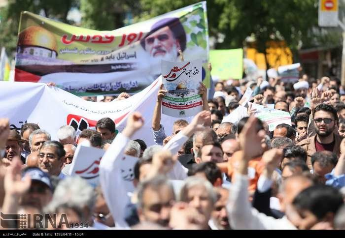Iranians demonstrate solidarity with Palestinians