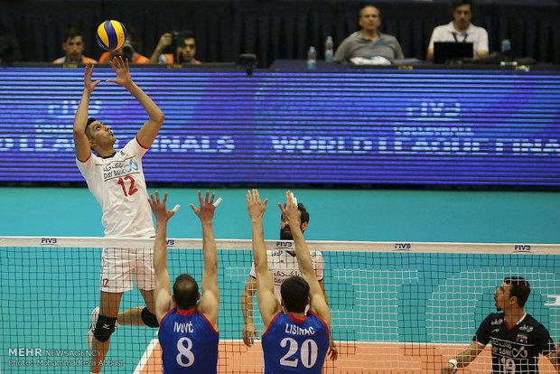 مباراة ايران وصربيا بالكرة الطائرة