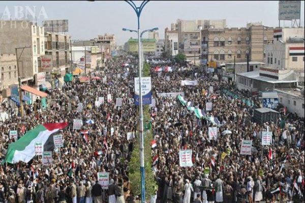 مسيرات جماهيرية في يوم القدس وسط العاصمة اليمنية