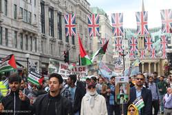 حضور «لندنی ها» در راهپیمایی روز قدس/ پیوند داعش و صهیونیسم