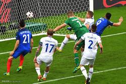 مشاهد من مباراة فرنسا وايسلندا في ربع نهائي كأس امم اوروبا