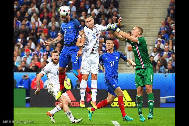 مباراة فرنسا وايسلندا في ربع نهائي كأس امم اوروبا