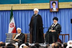 دیدار مسئولان نظام و سفیران کشورهای اسلامی با رهبر انقلاب