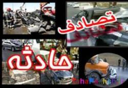 برخورد ۳ خودرو در جاده سراب - بستان آباد حادثه آفرید