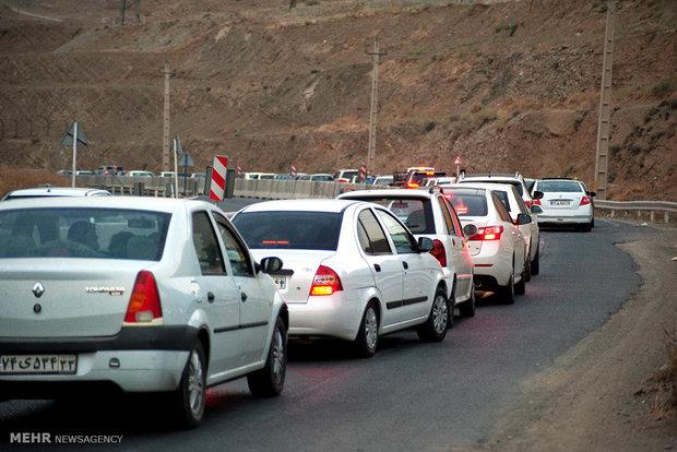 ترافیک در محور کرج – چالوس نیمه سنگین است
