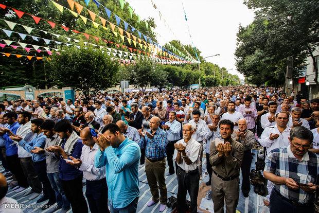 Eid al-Fitr prayers in Karaj