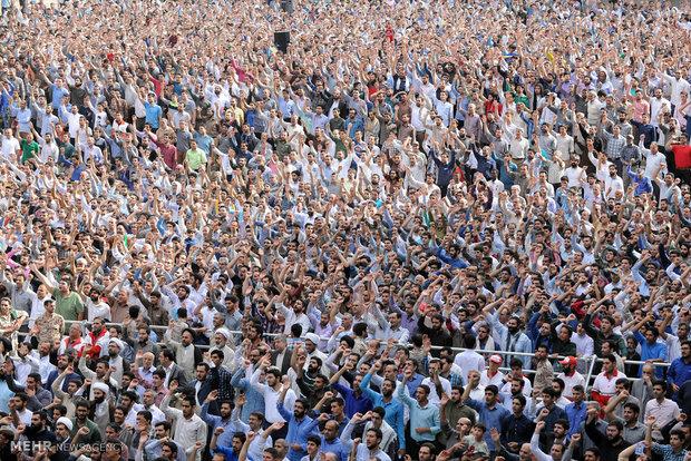Eid al-Fitr prayers led by Ayat. Khamenei