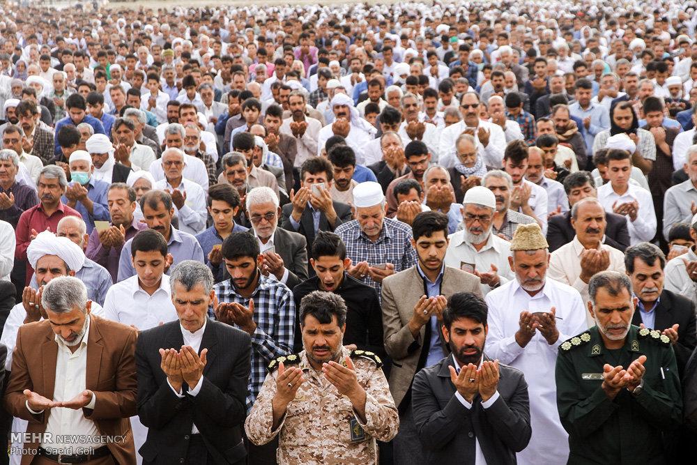 اقامه نماز عید سعید فطر در زابل
