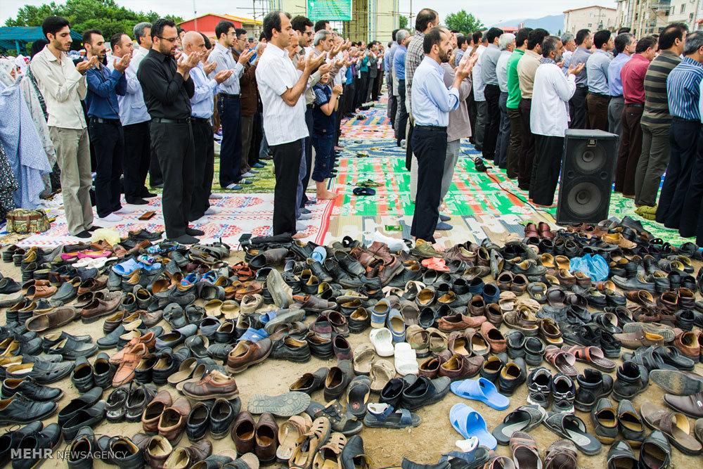 اقامه نماز عید سعید فطر در رودسر