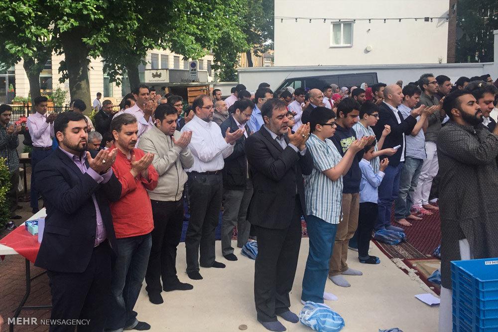 اقامه نماز عید سعید فطر در مرکز اسلامی انگلیس