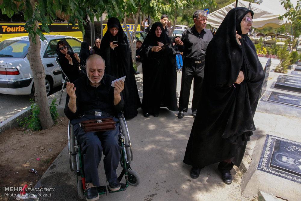 تشییع پیکر مادر شهید مفقودالاثرحسن پوری محمد