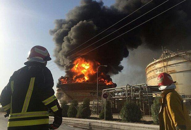 واحد آروماتیک پتروشیمی بندر امام دچار آتشسوزی شد
