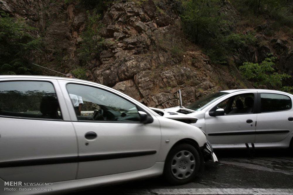 تصادف در جاده محور کرج و چالوس