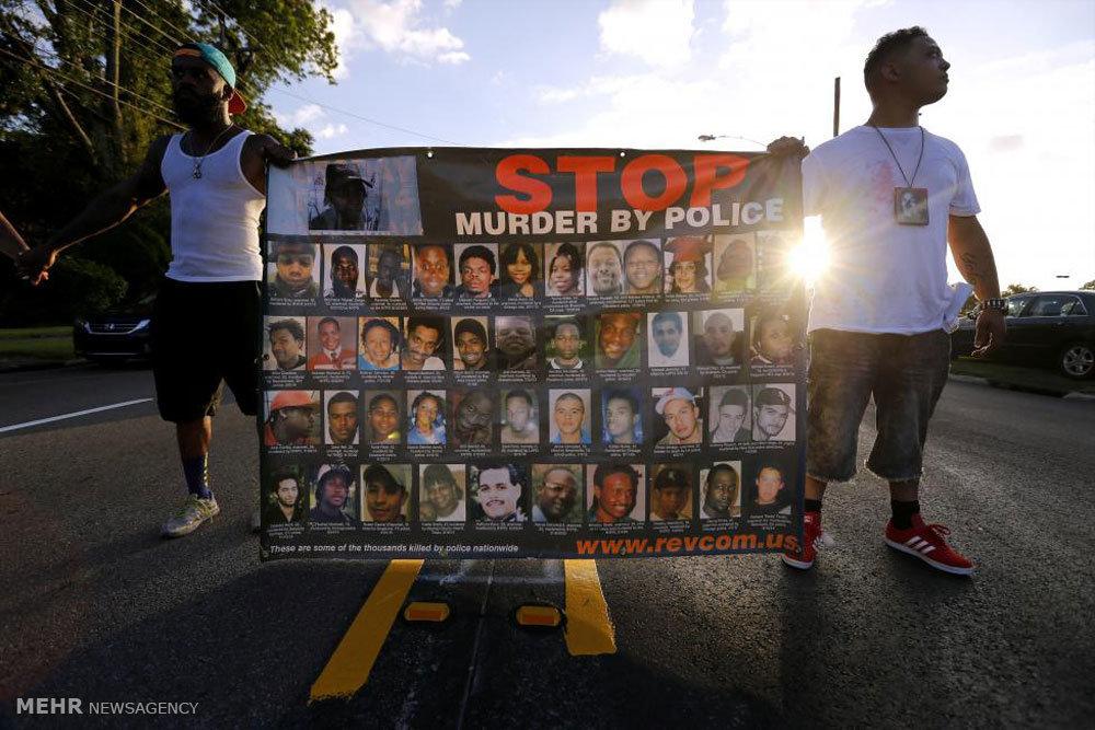اعتراض به خشونت پلیس آمریکا