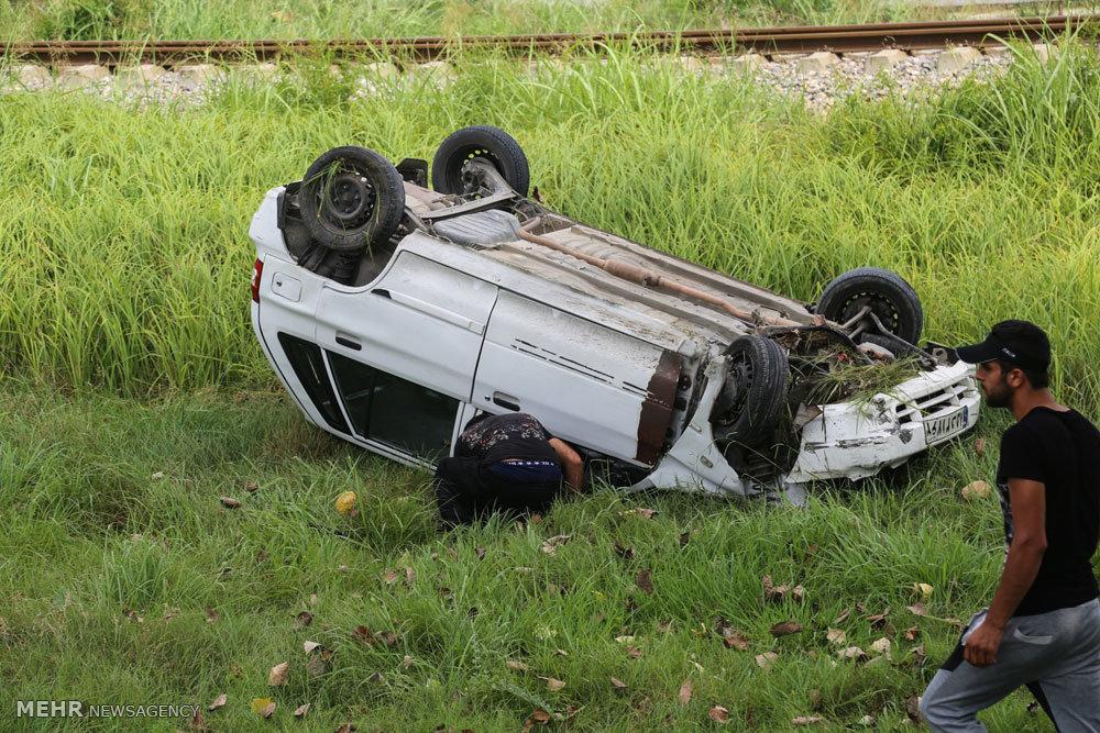 سانحه رانندگی در جاده ساری به قائمشهر