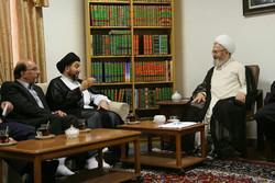 مشاهد من زيارة رئيس المجلس الاعلى الاسلامي العراق لمدينة قم المقدسة