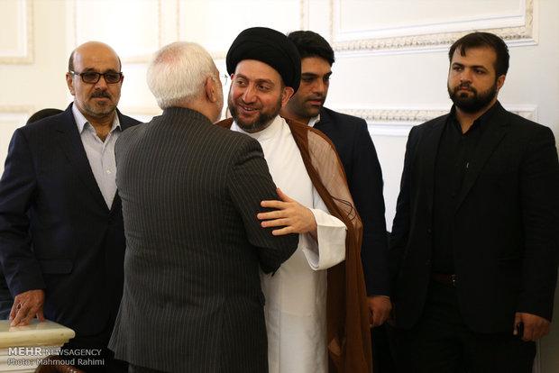 دیدار رئیس مجلس اعلای عراق با وزیر امور خارجه