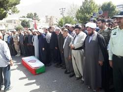 تشییع پیکر شهید حادثه تروریستی در شهرستان دالاهو