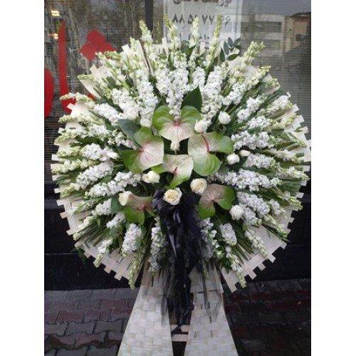خرک جلو آینه پیام تسلیت روی تاج گل