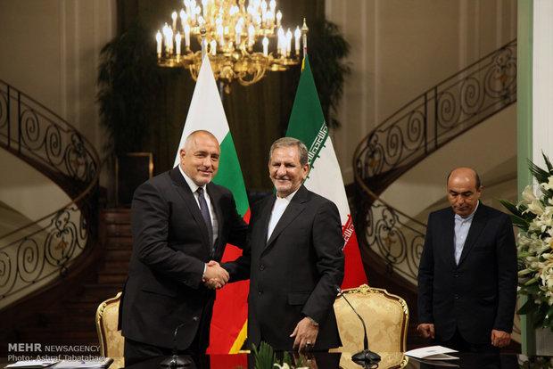 مراسم استقبال رئيس وزراء بلغاريا