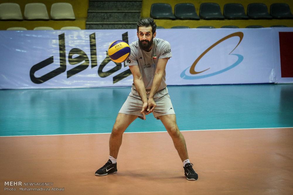 تمرین تیم ملی والیبال ایران