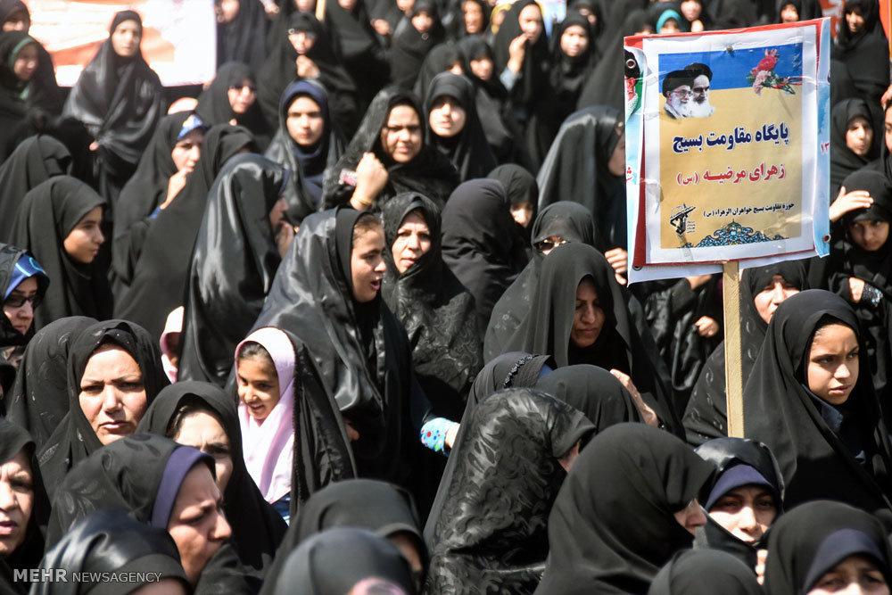 راهپیمایی عفاف و حجاب در شهرضا